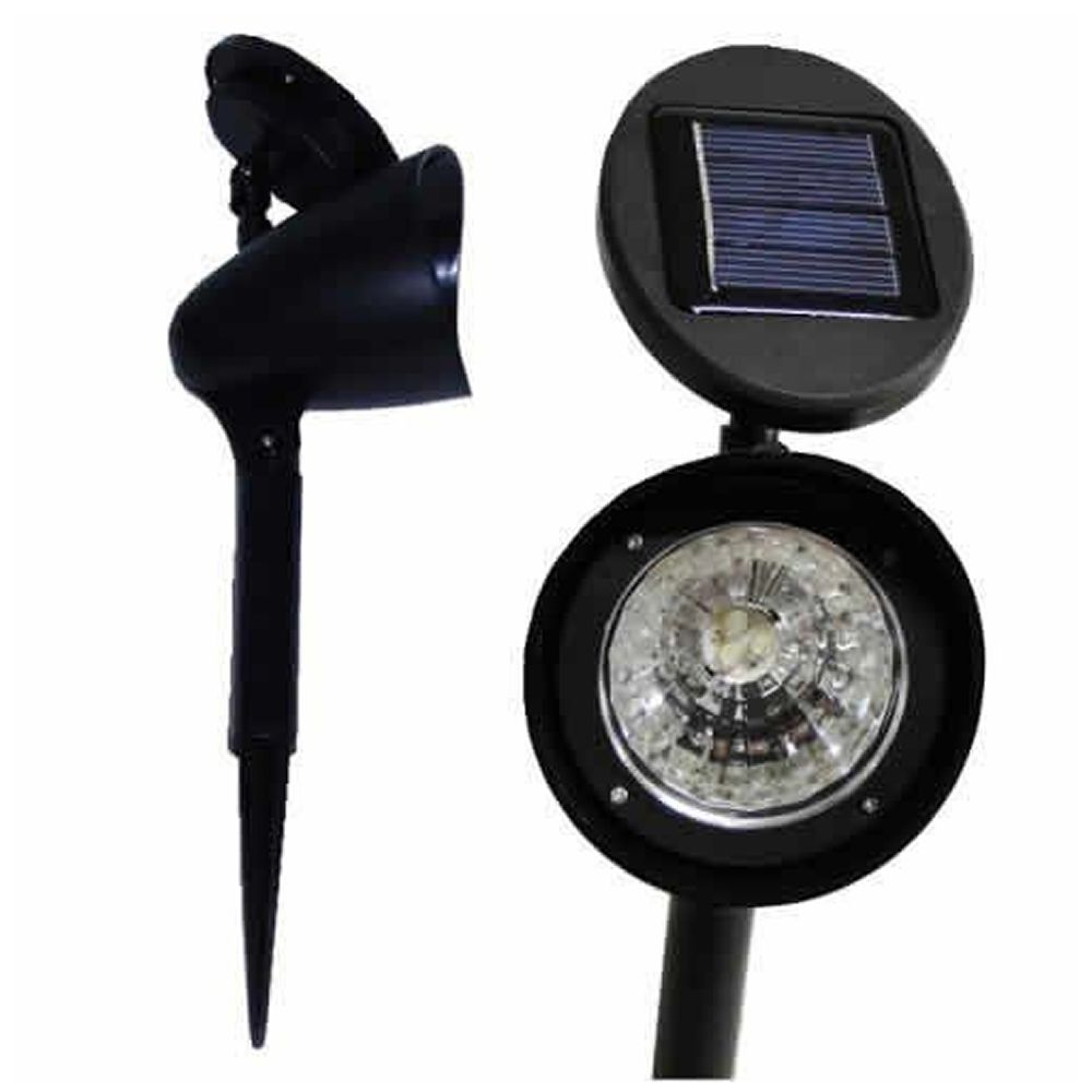 Luminária Solar Jardim PVC Rígido Spot 3 leds 4 peça CBRN13098