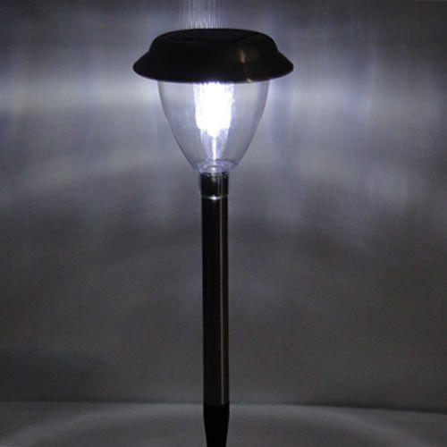 Luminaria solar  jardim 6 peças aço inox EC1120 CD 1388