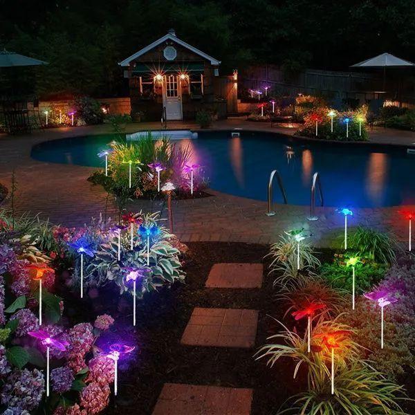 Luminária Solar para Jardim Libélula 4 Peças CBRN12923