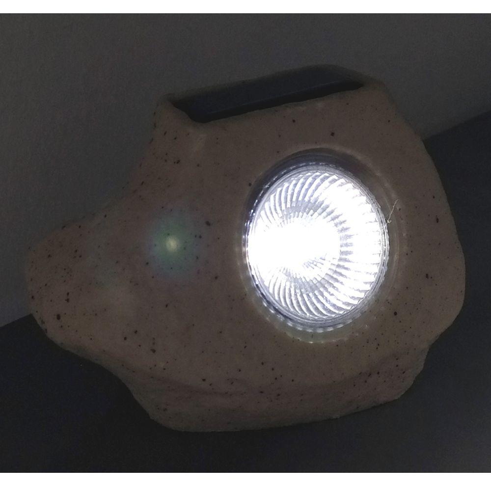 Luminária Solar Para Jardim Pedra 3 peças CBRN13210