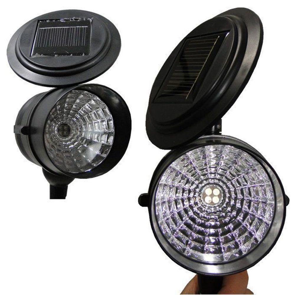 Luminária Solar para Jardim Spot 4 leds 4 peças CBRN13135