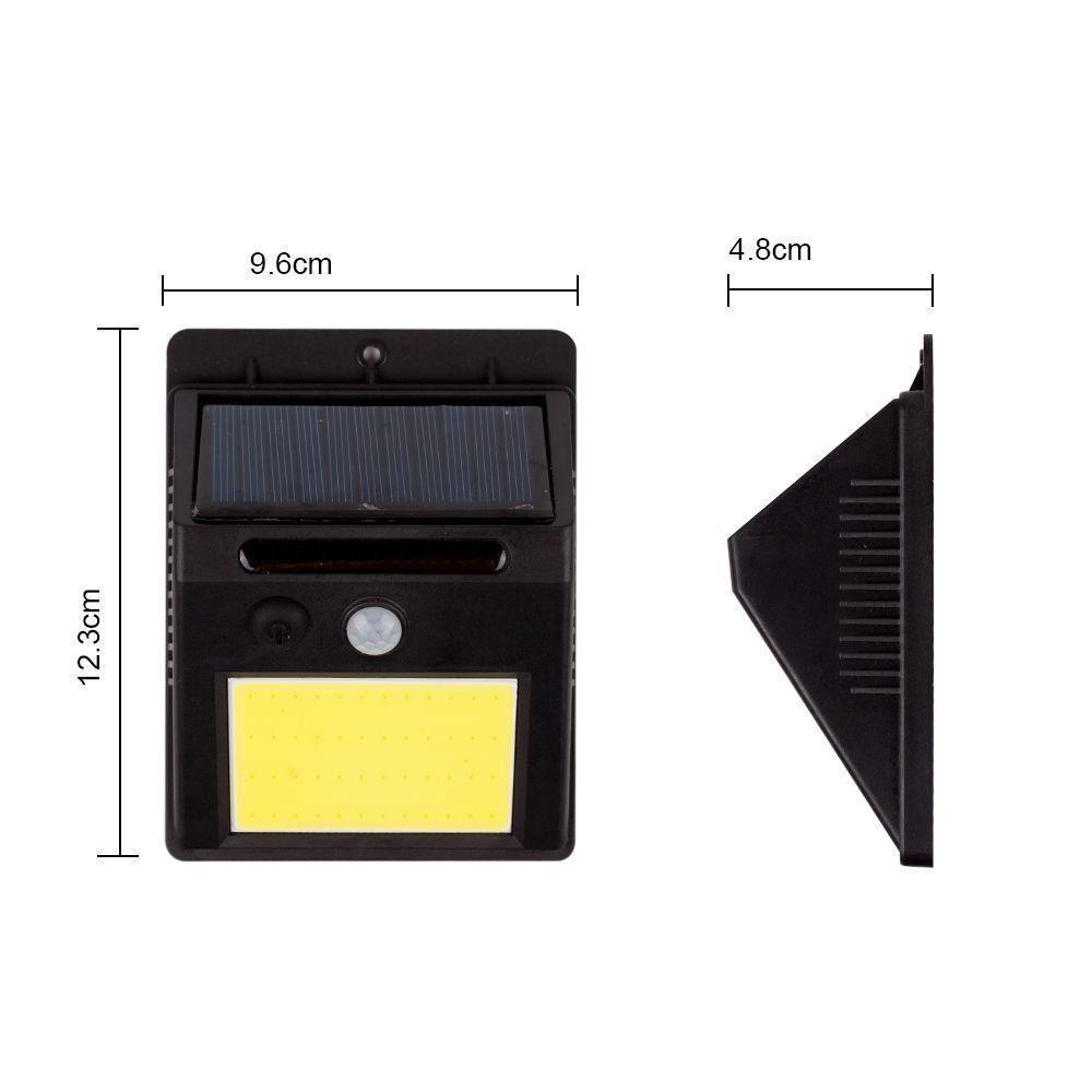 Luminária Solar Parede 48 Leds c/ Sensor Movimento CBRN06823