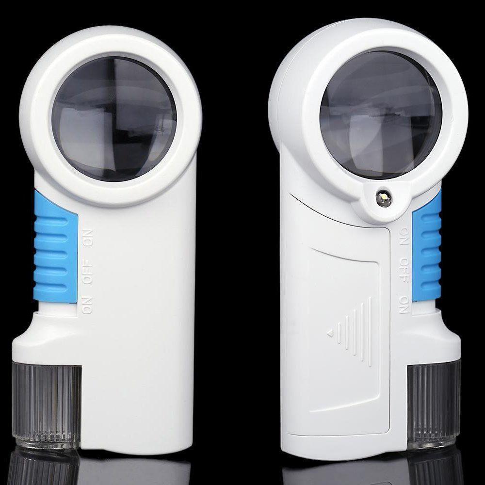 Lupa de Mão Com Luz 2 Leds com lanterna amplicação 12X CBRN01606