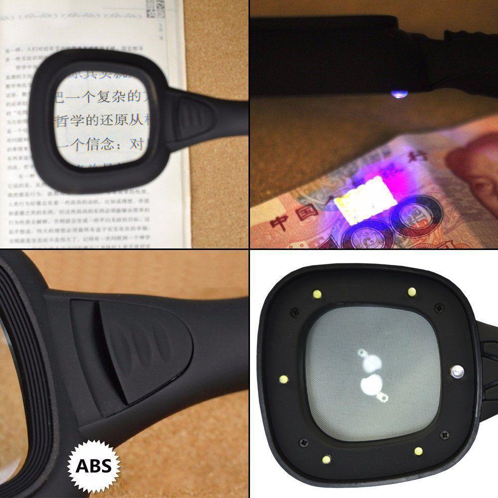 Lupa de Mão Com Suporte e Luz Detector de Dinheiro CBRN09114