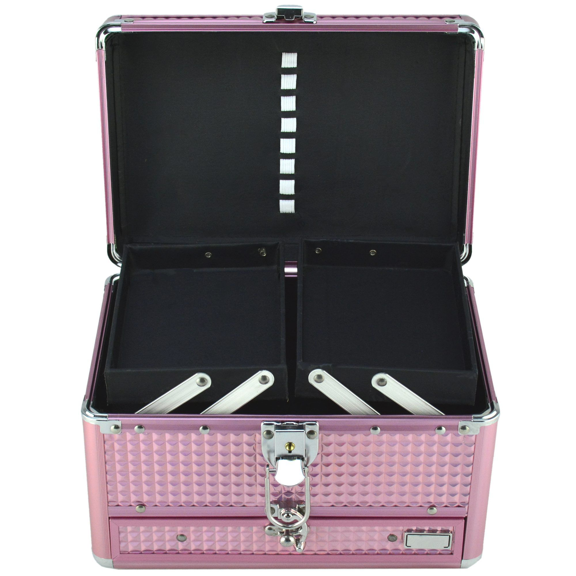 Maleta Para Maquiagem e Joias Frasqueira Luxo Rosa CBRN11124