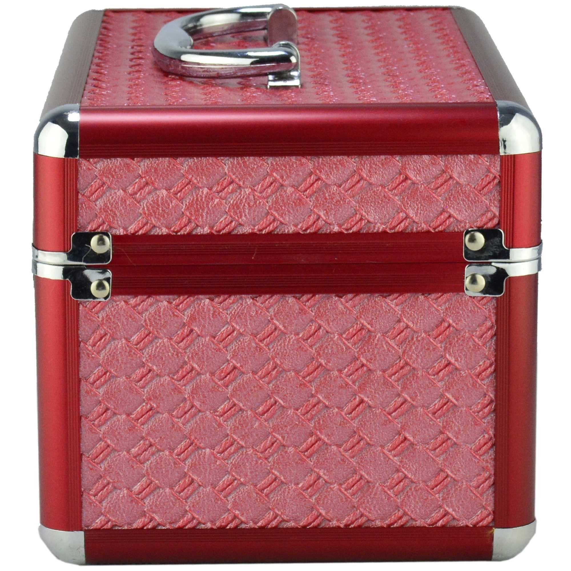 Maleta Para Maquiagem e Jóias Frasqueira Luxo Vermelho CBRN10318