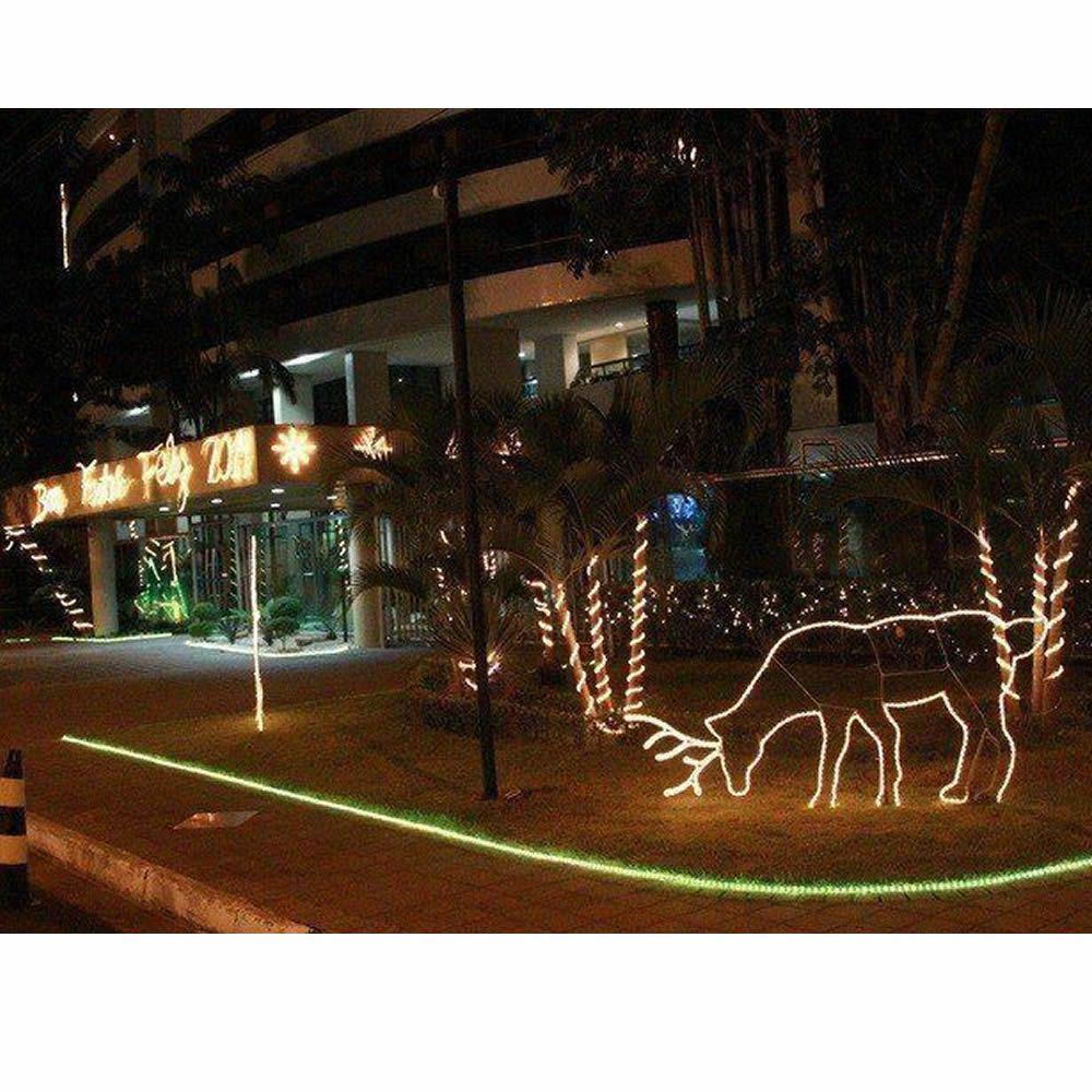 Mangueira Luminosa LED Amarelo Corda Natal Pisca Rolo 100mt 220v - 1101
