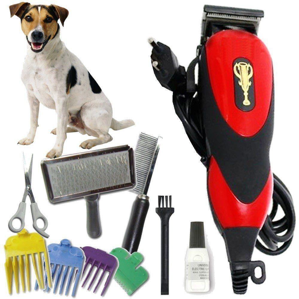 Máquina Tosa Para Cães e Gatos com Kit Pentes e Tesoura Pet 110v WMTDS2055