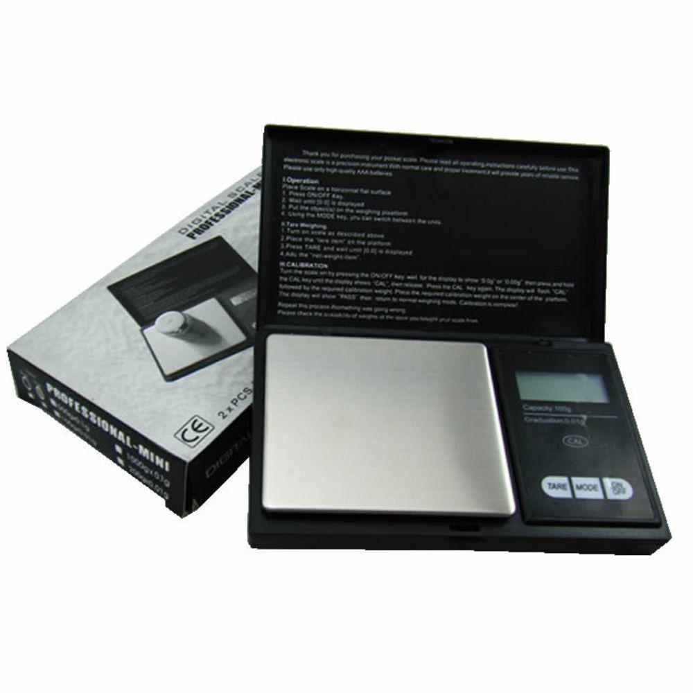 Mini Balança Digital Alta Precisão de Bolso Portátil 500gr Preto CBR1049