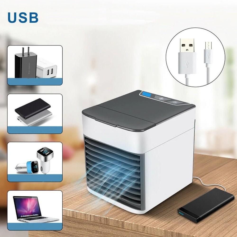 Mini Climatizador de Ar USB Portátil + Suporte Celular  CBRN13029