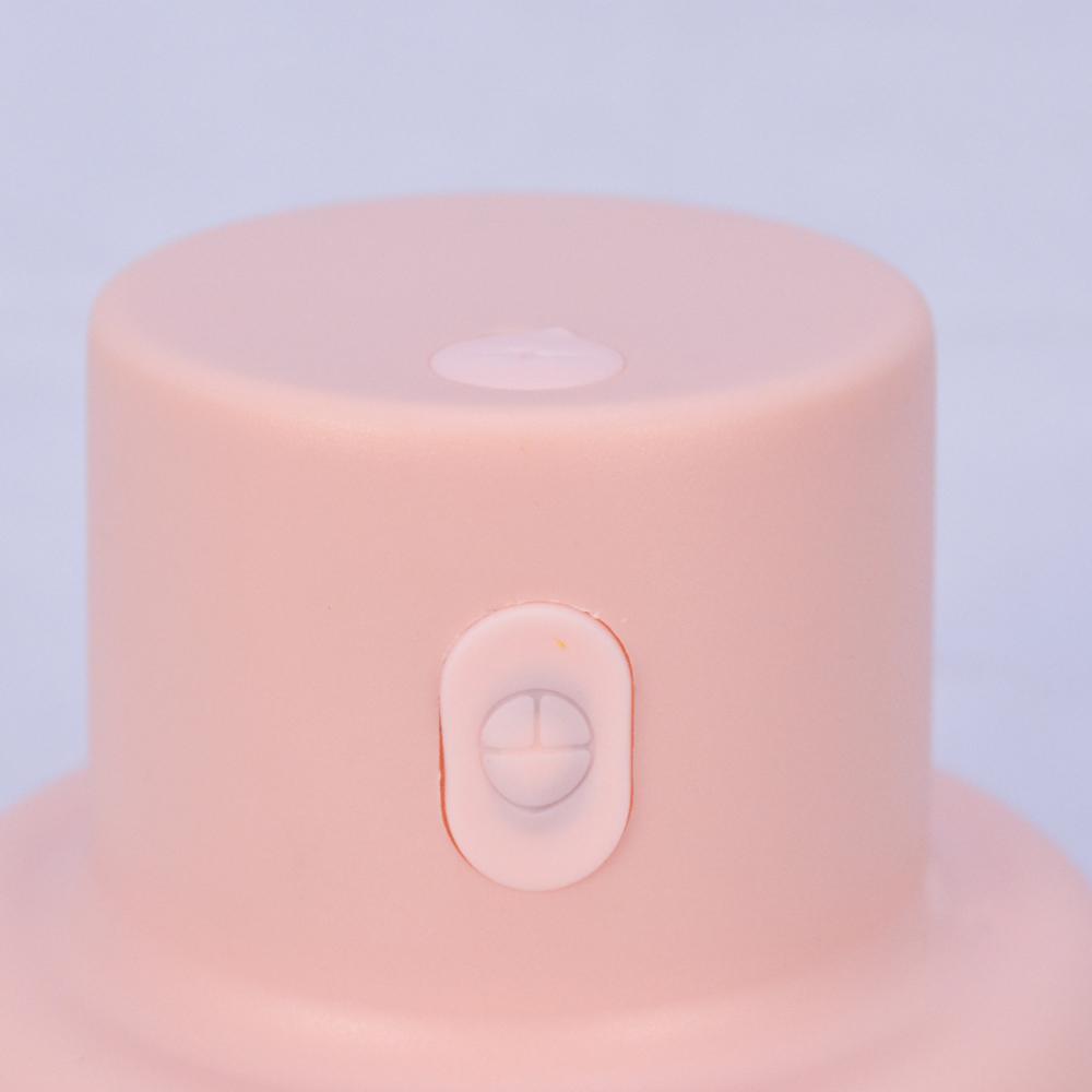Mini Processador e Triturador de Alimentos Elétrico Recarregável 200 ml Rosa + Chaveiro CBRN18383