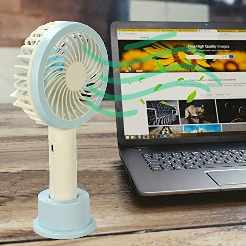 Mini Ventilador Portátil Recarregável + adaptador Azul CBRN07288