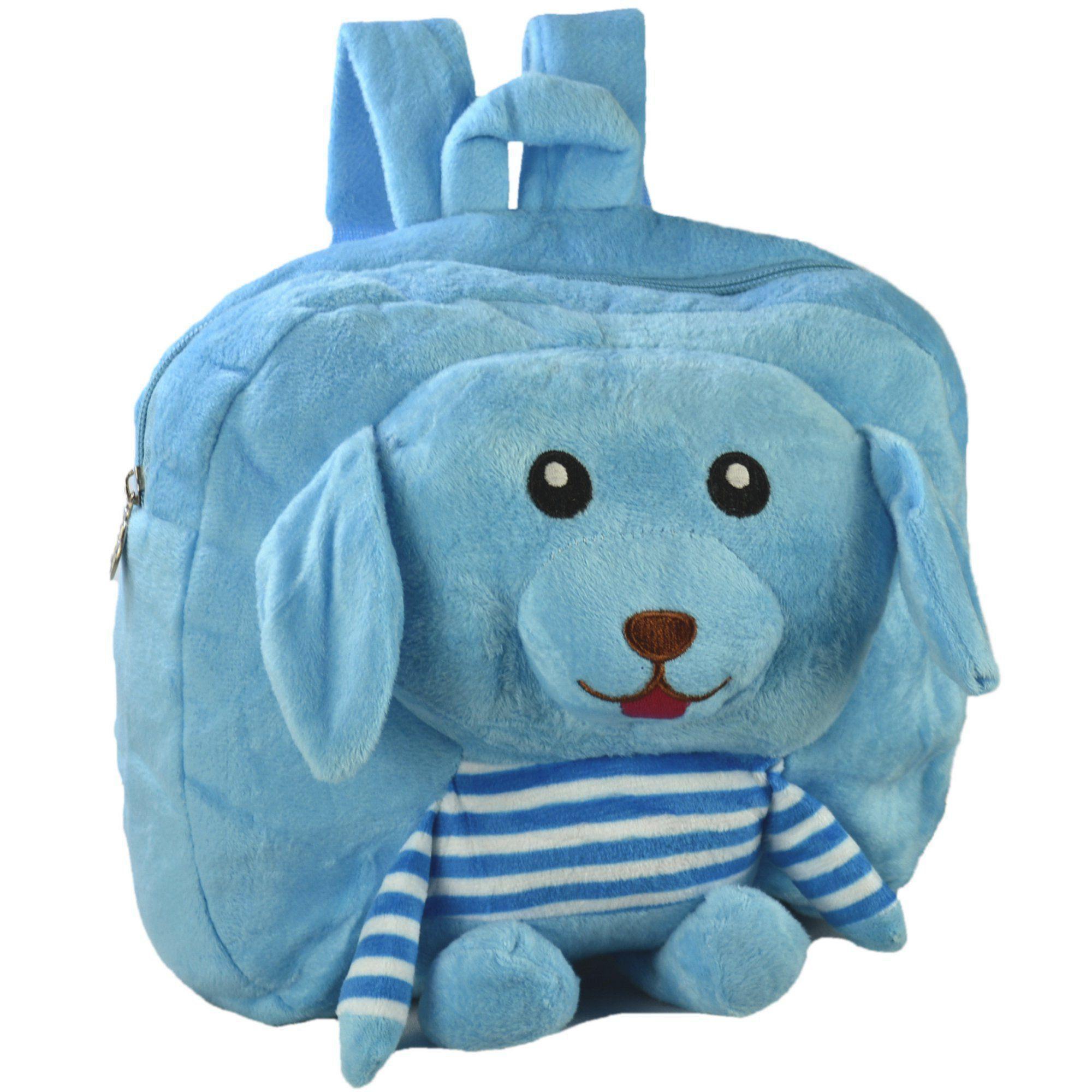 Mochila infantil Pelucia 3D Cachorro Azul CBRN07349