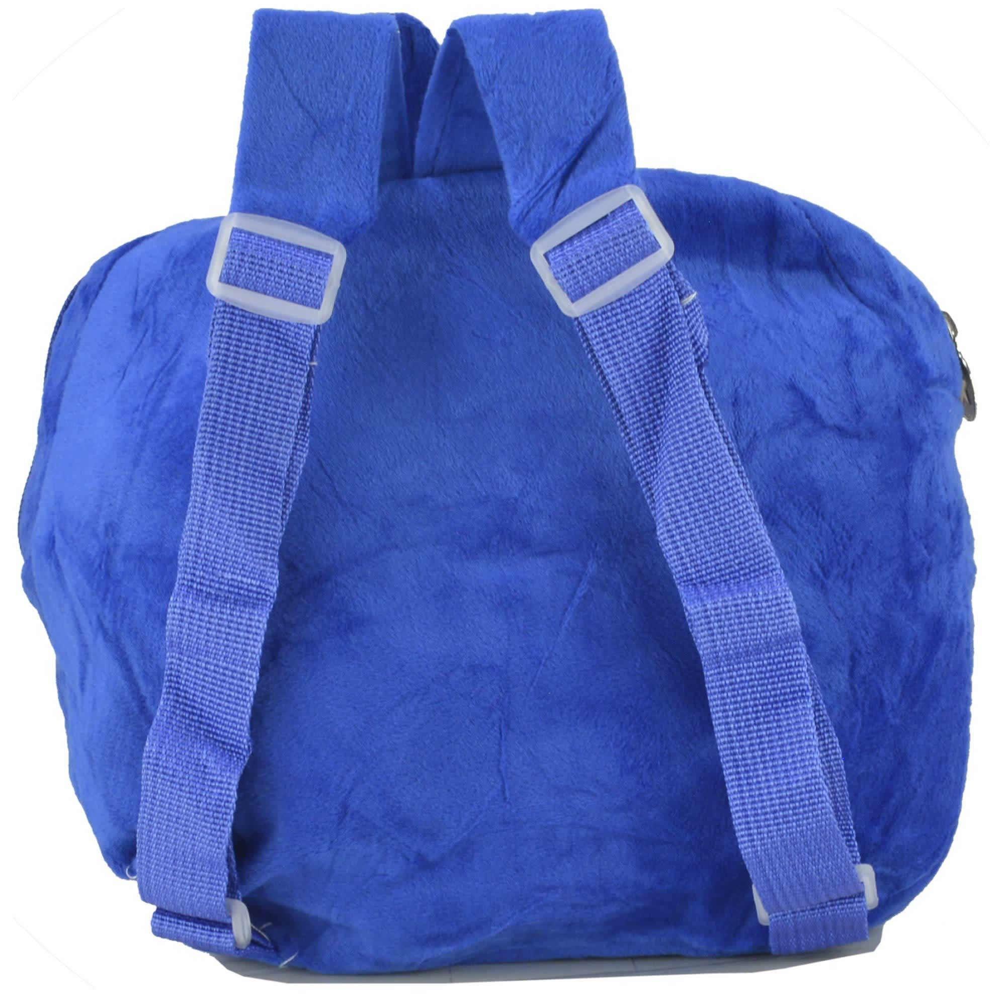 Mochila infantil Pelucia 3D cachorro chapeu azul CBRN07417