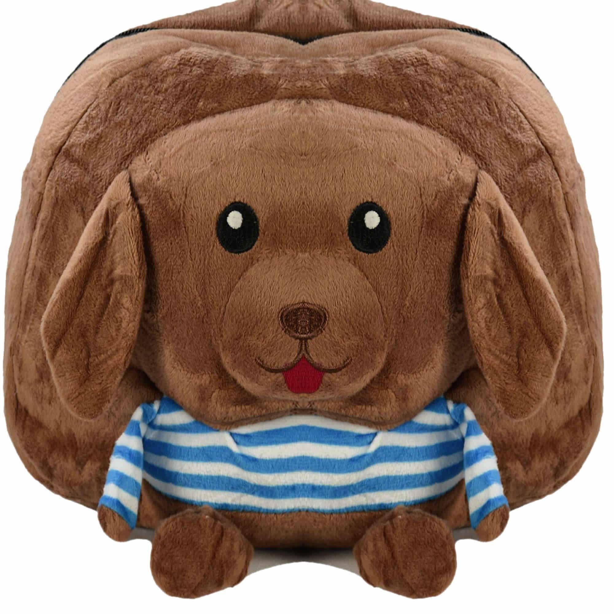 Mochila infantil Pelucia 3D Cachorro marrom CBRN07370