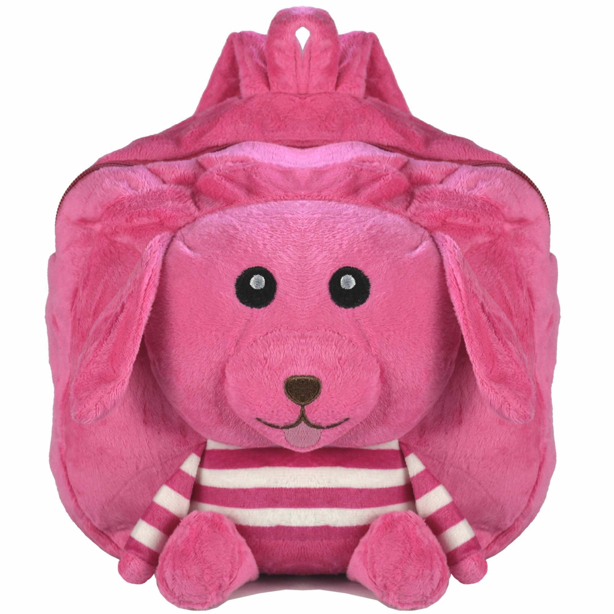Mochila infantil Pelucia 3D Cachorro pink CBRN07363