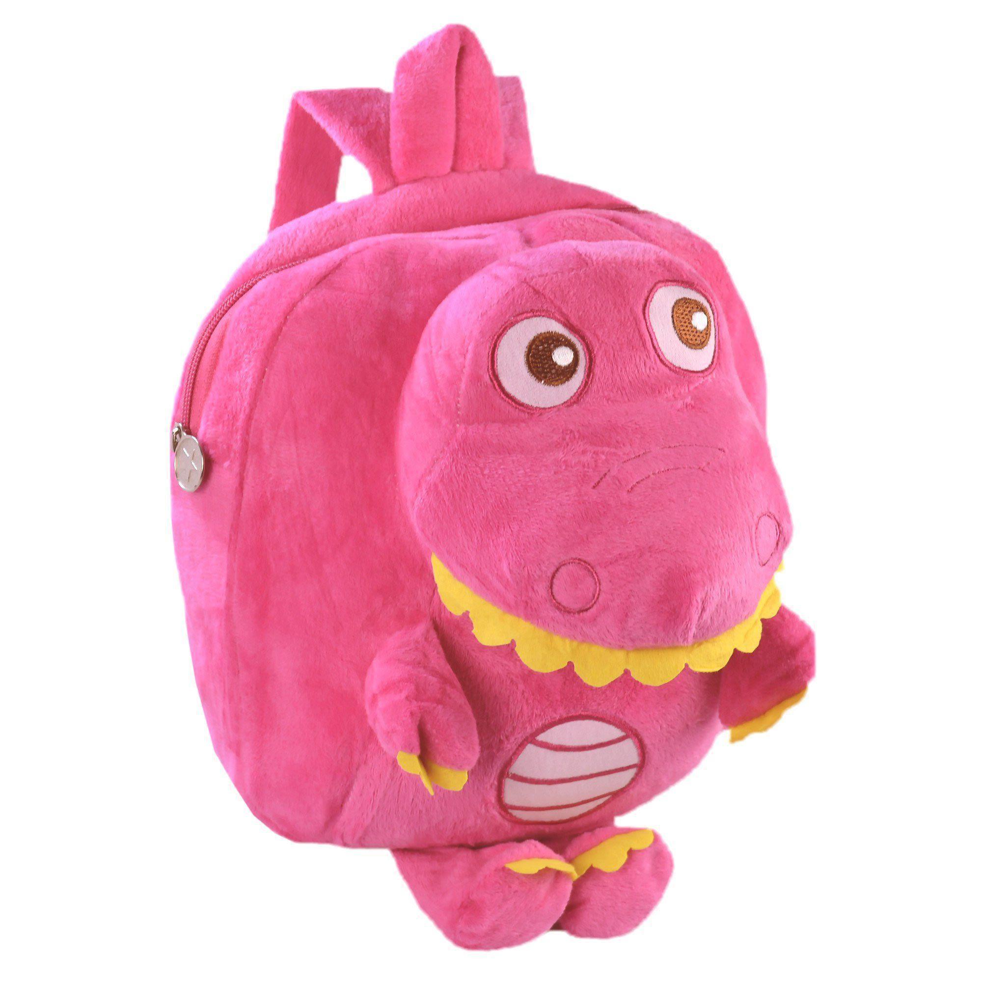 Mochila infantil Pelucia 3D dinossauro pink CBRN07509