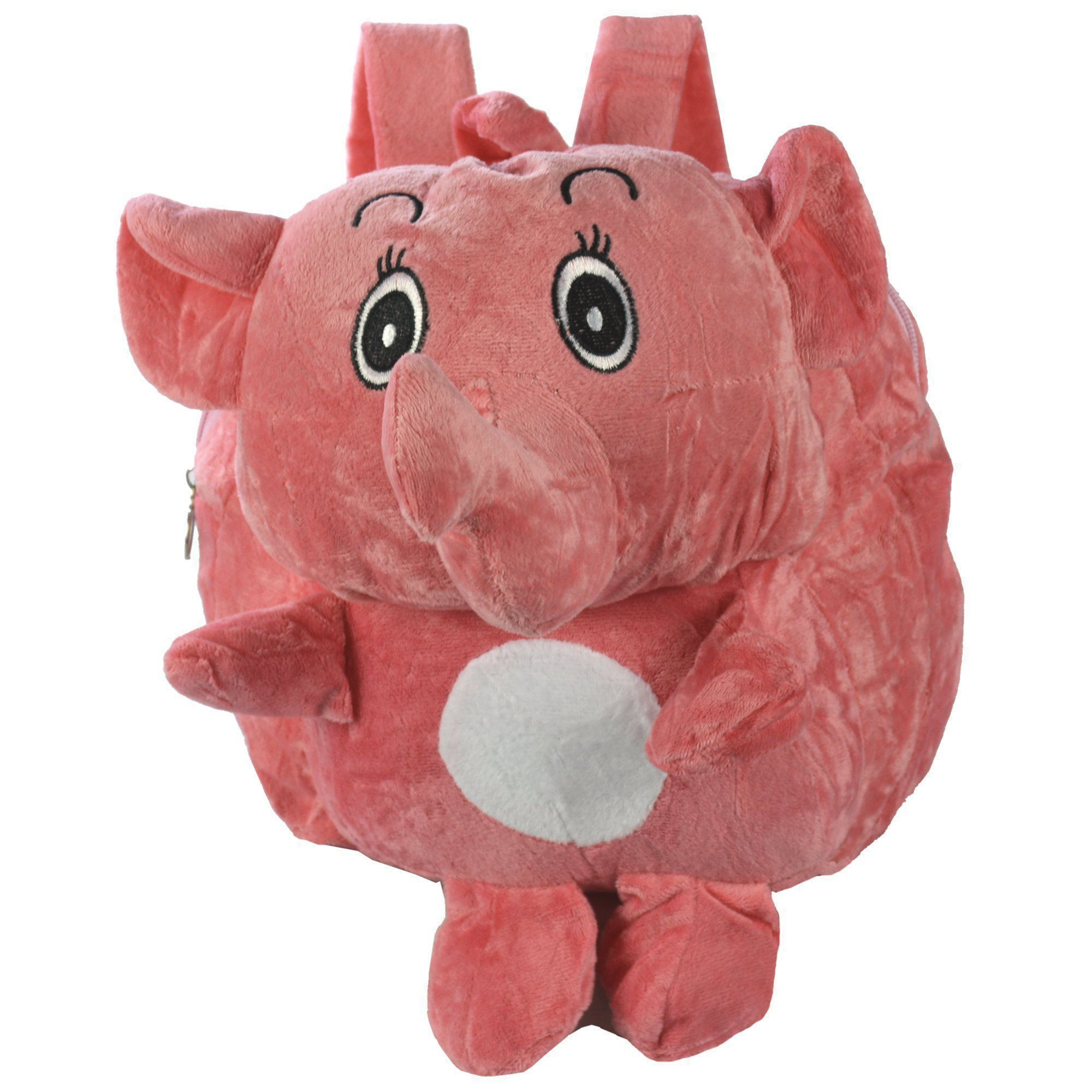 Mochila infantil Pelucia 3D elefante fofo rosa CBRN07592