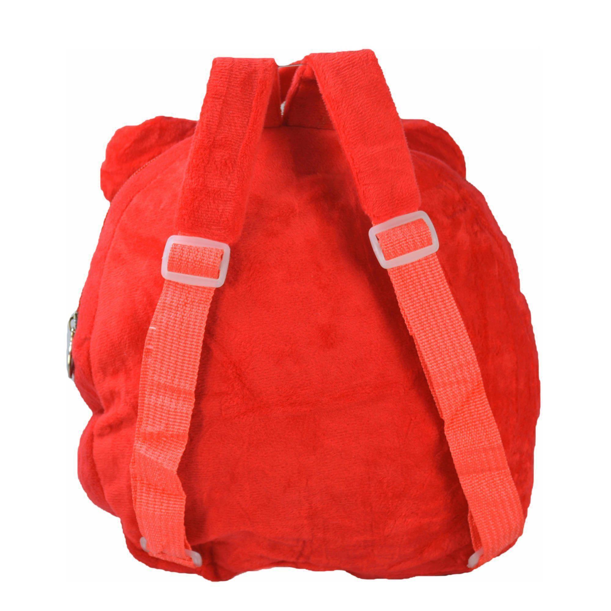 Mochila infantil Pelucia 3D menina vermelho CBRN07479