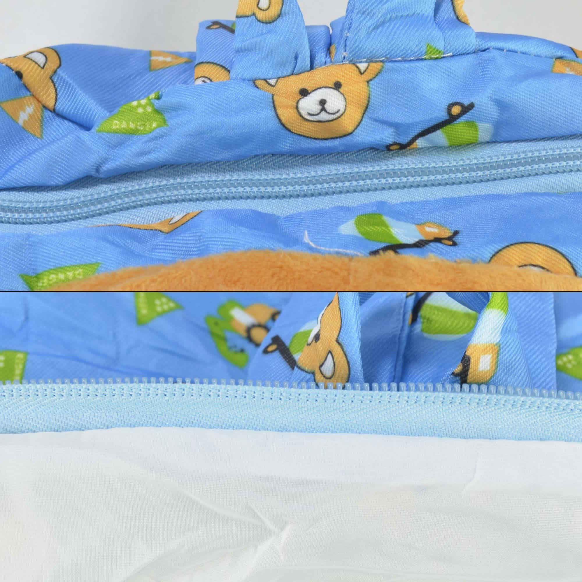 Mochila infantil Pelucia 3D urso azul CBRN07615