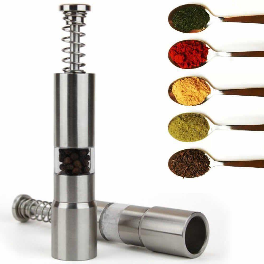 Moedor de pimenta e sal aço inox 15cm CBRN01392