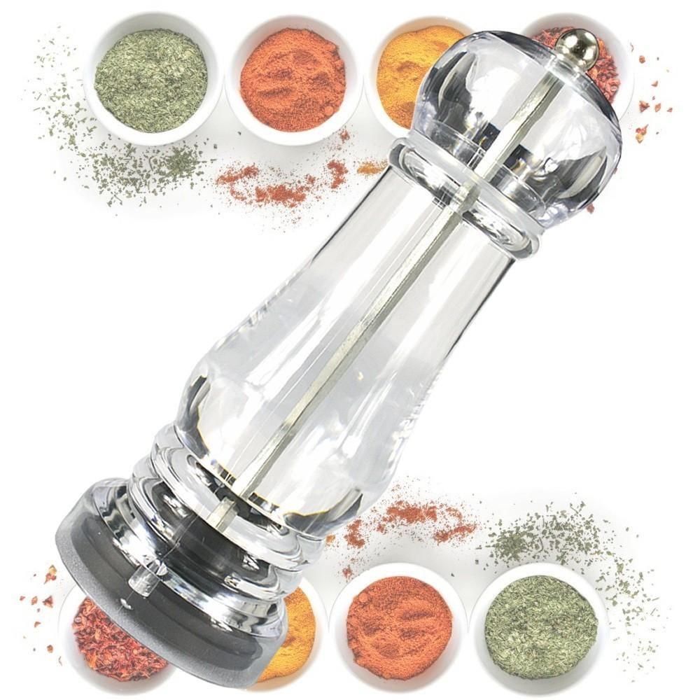 Moedor de Sal e Pimenta Manual Transparente Acrílico CBRN14408