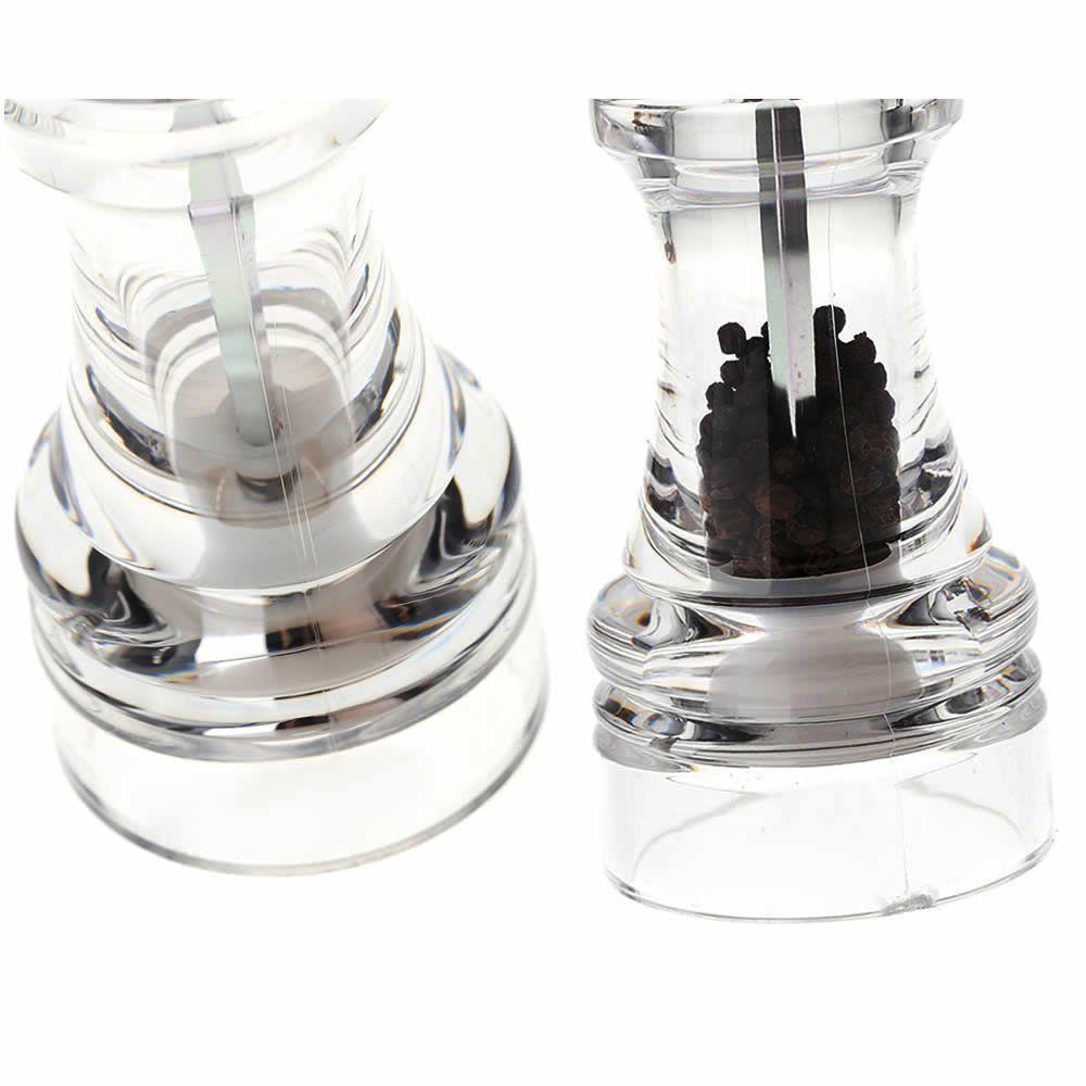 Moedor de sal e pimenta transparente acrílico 13 cm CBRN02702