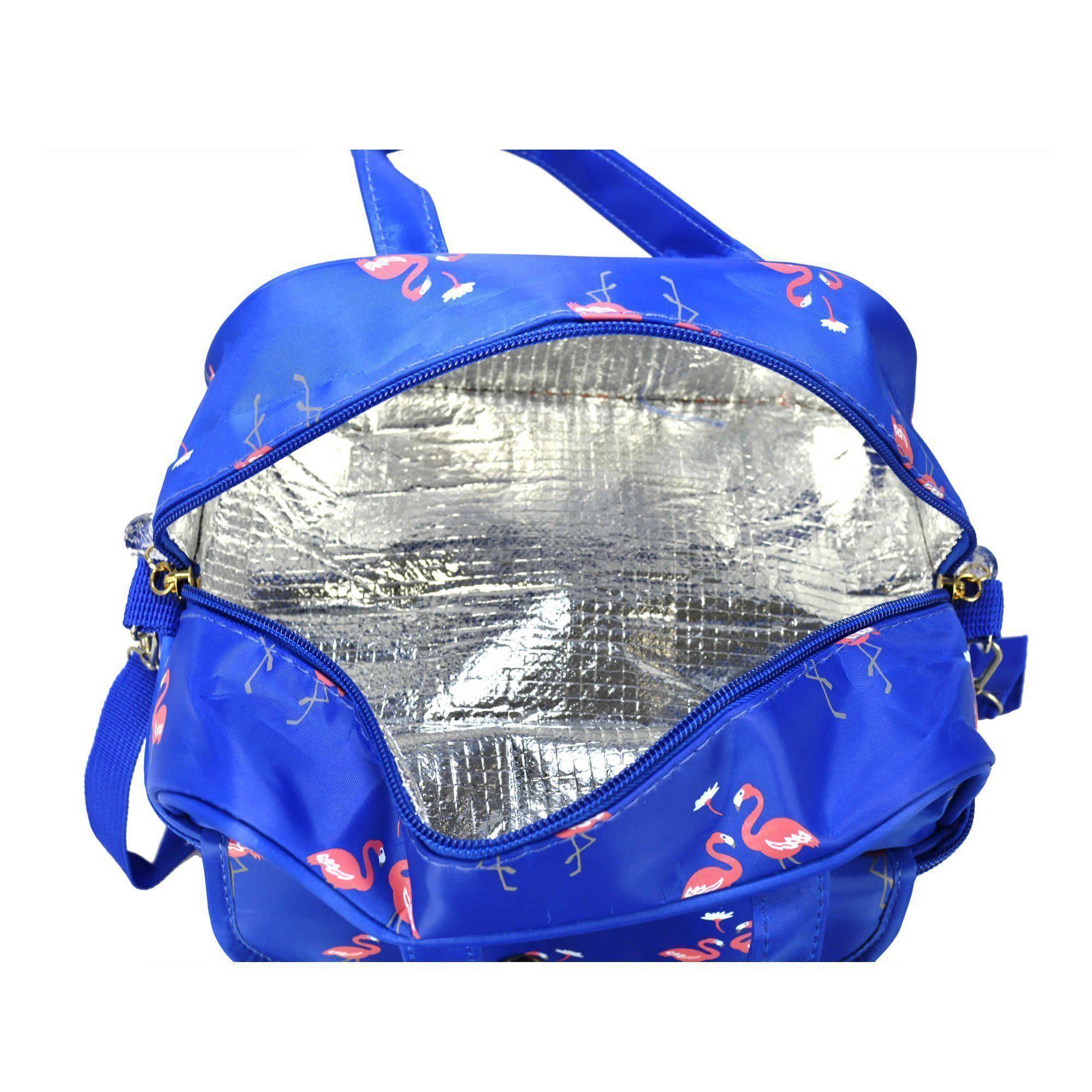 Necessaire Feminina Bolsa Térmica Azul CBRN05833