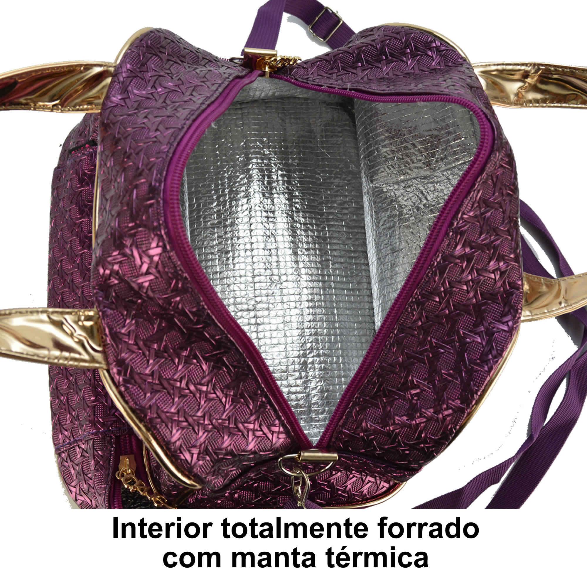 Nécessaire Feminina Bolsa Térmica Fitness Luxo CBRVVC950L