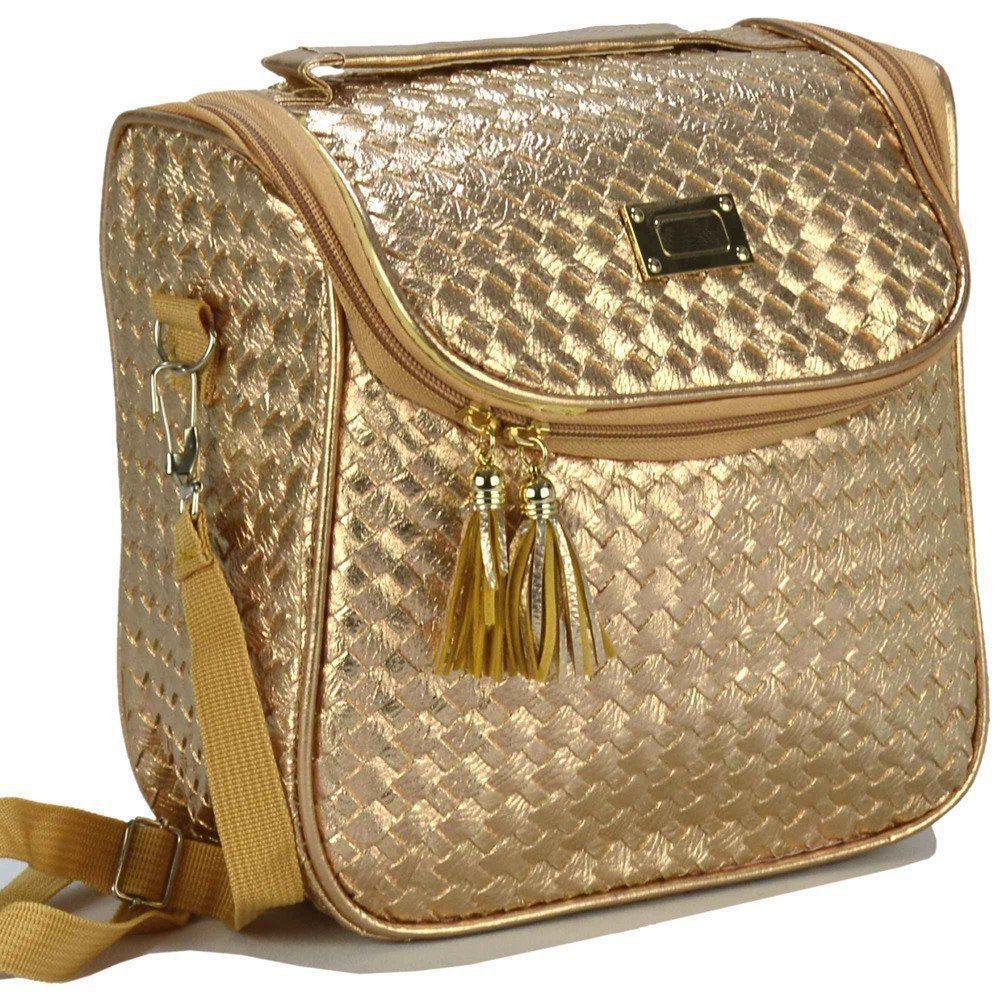 Nécessaire Feminina Bolsa Térmica Luxo Dourado CBRN07820