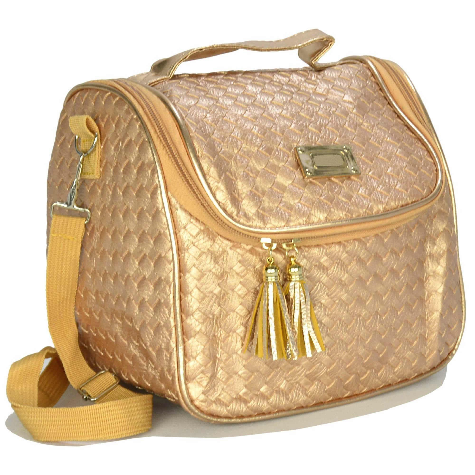 Nécessaire Feminina Bolsa Térmica Luxo Dourado CBRN07967