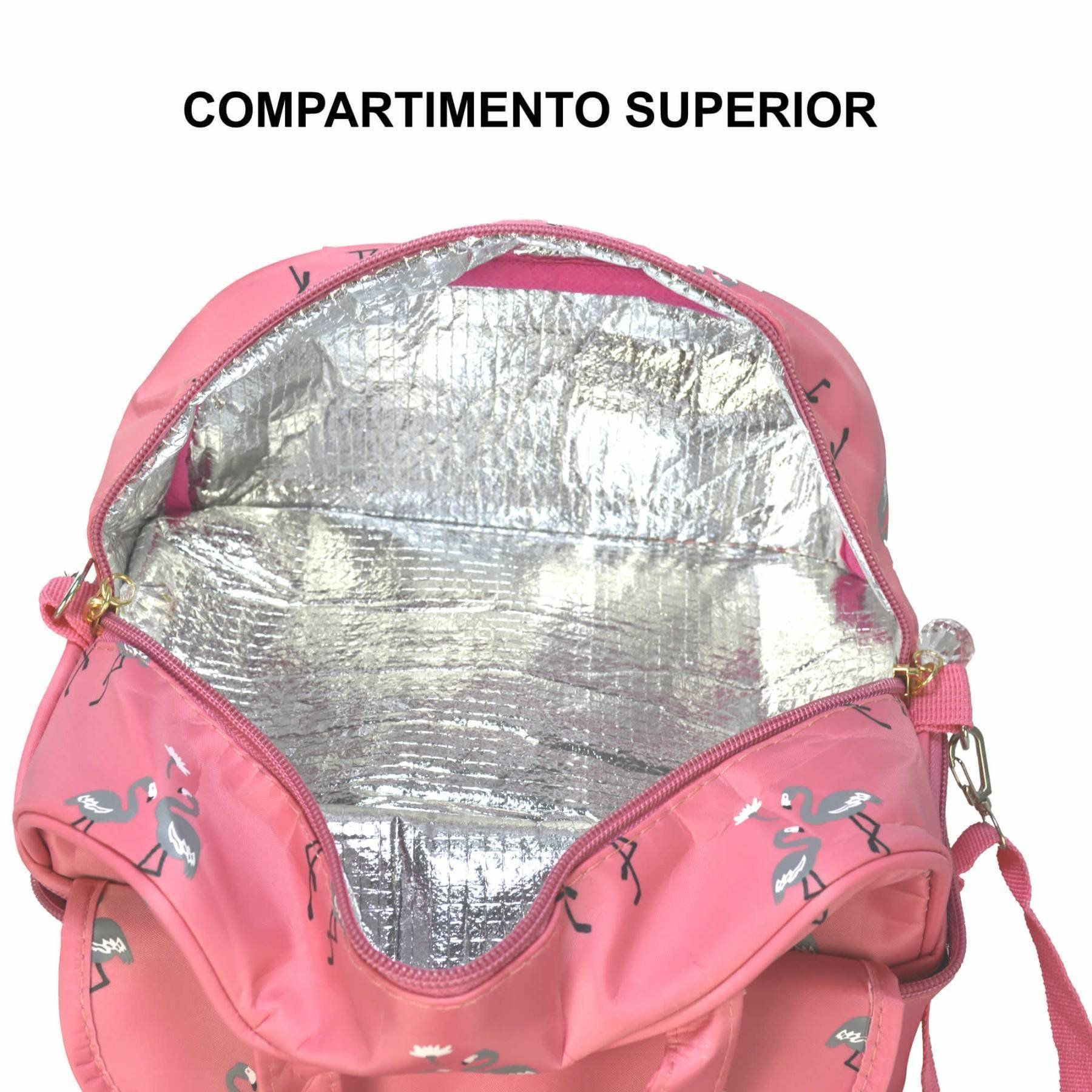 Necessaire Feminina Bolsa Térmica Rosa CBRN05871
