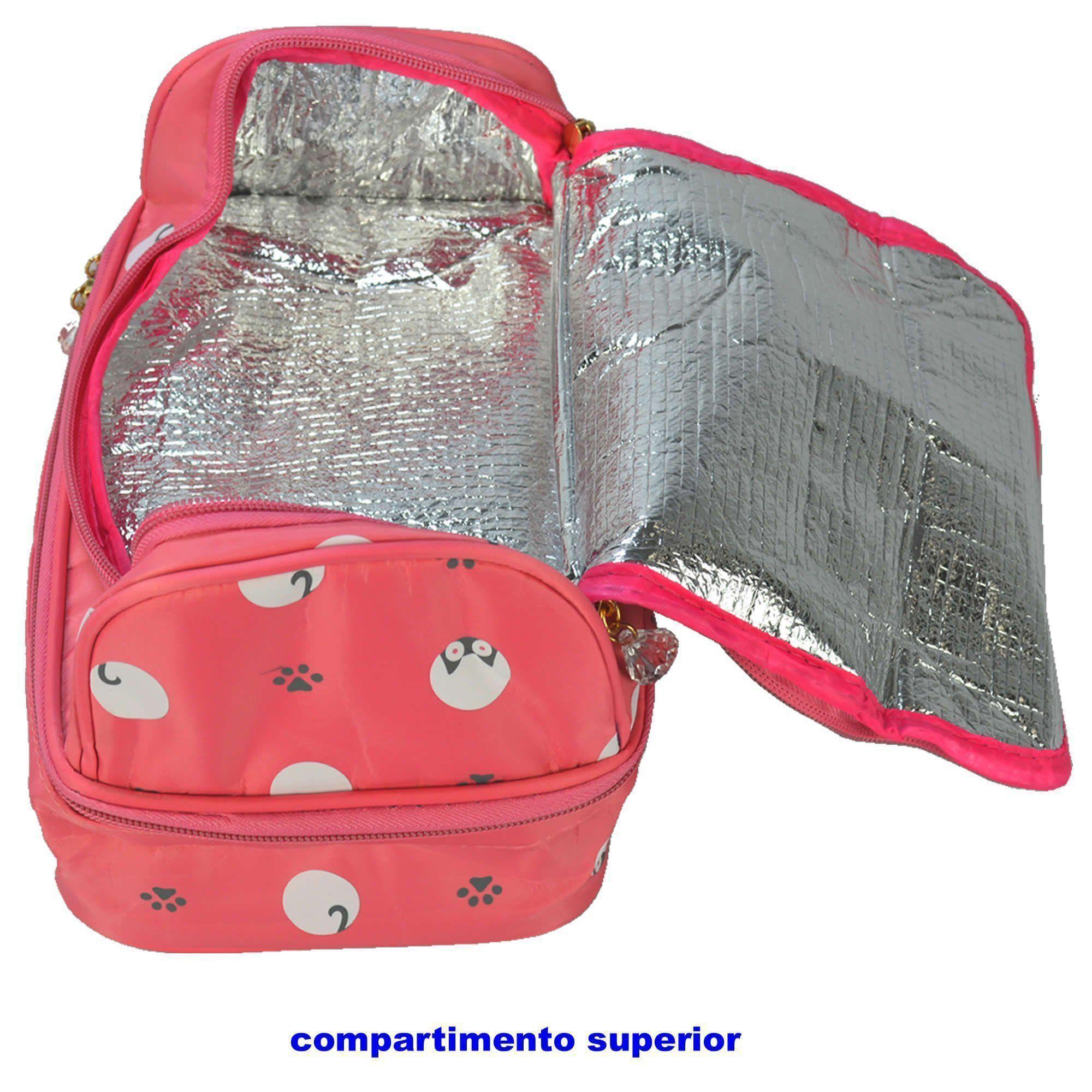 Necessaire Feminina Bolsa Térmica Rosa CBRN05932