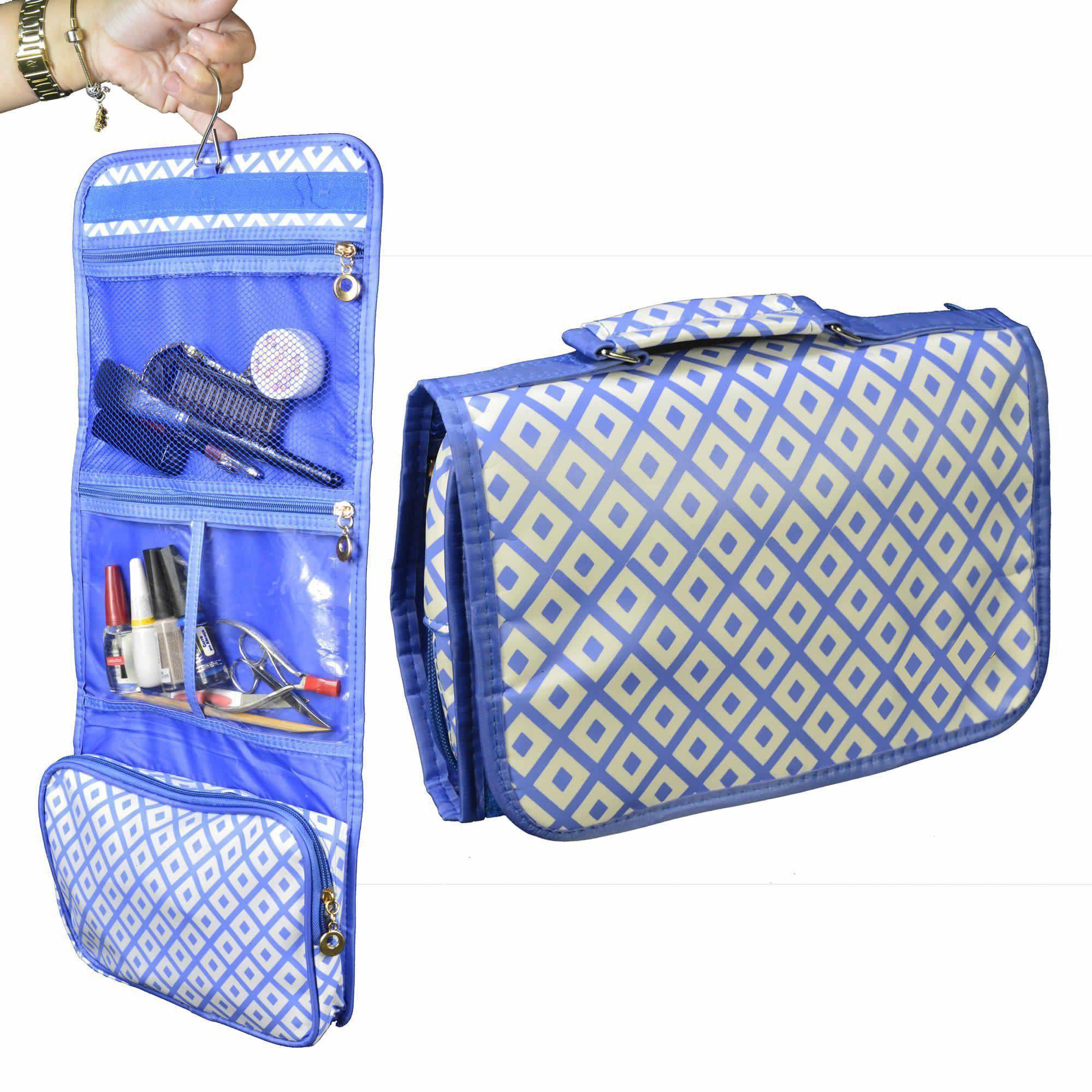 Necessaire Feminina Organizadora Azul CBRN05659