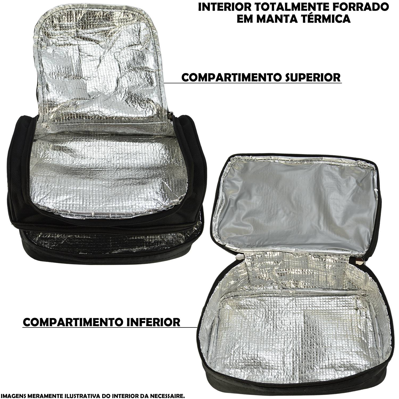 Nécessaire Masculina Bolsa Térmica Marrom CBRN11179