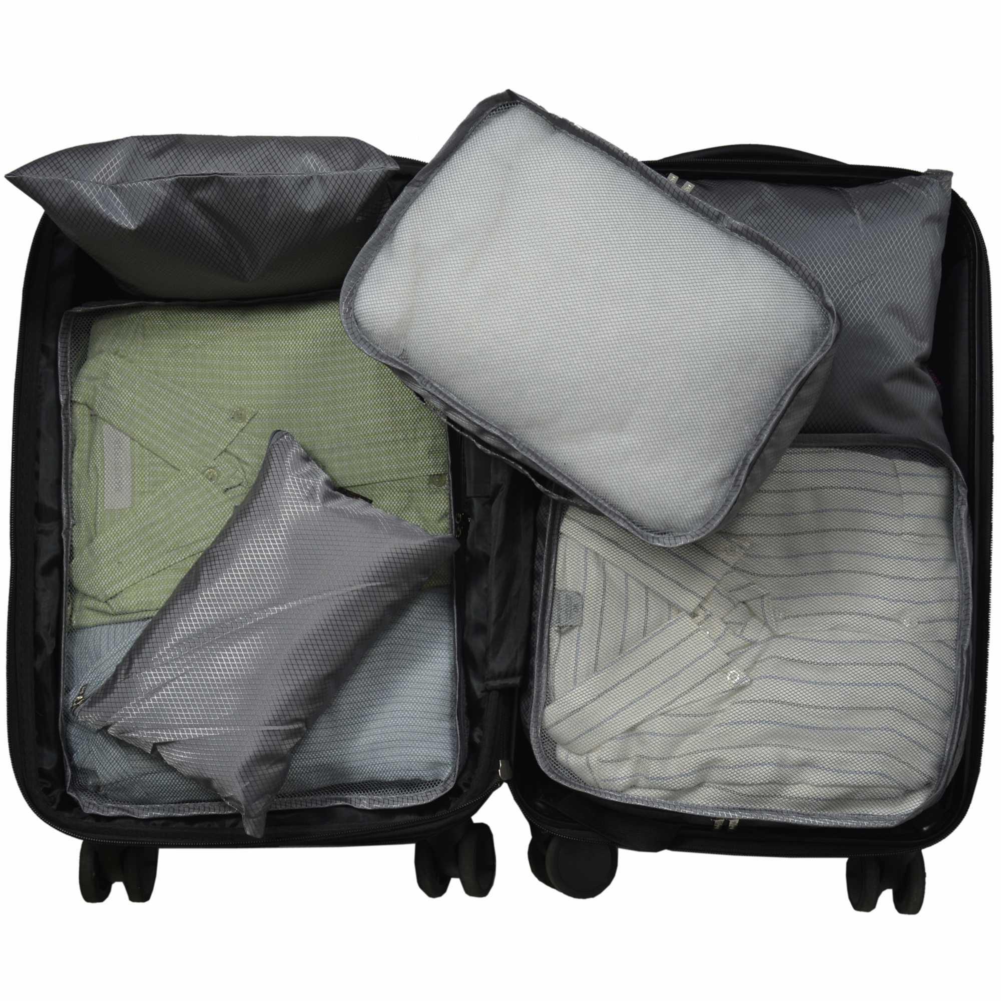 Organizador de Mala Viagem Necessaire Kit 6 Peças Cinza CBRN12749