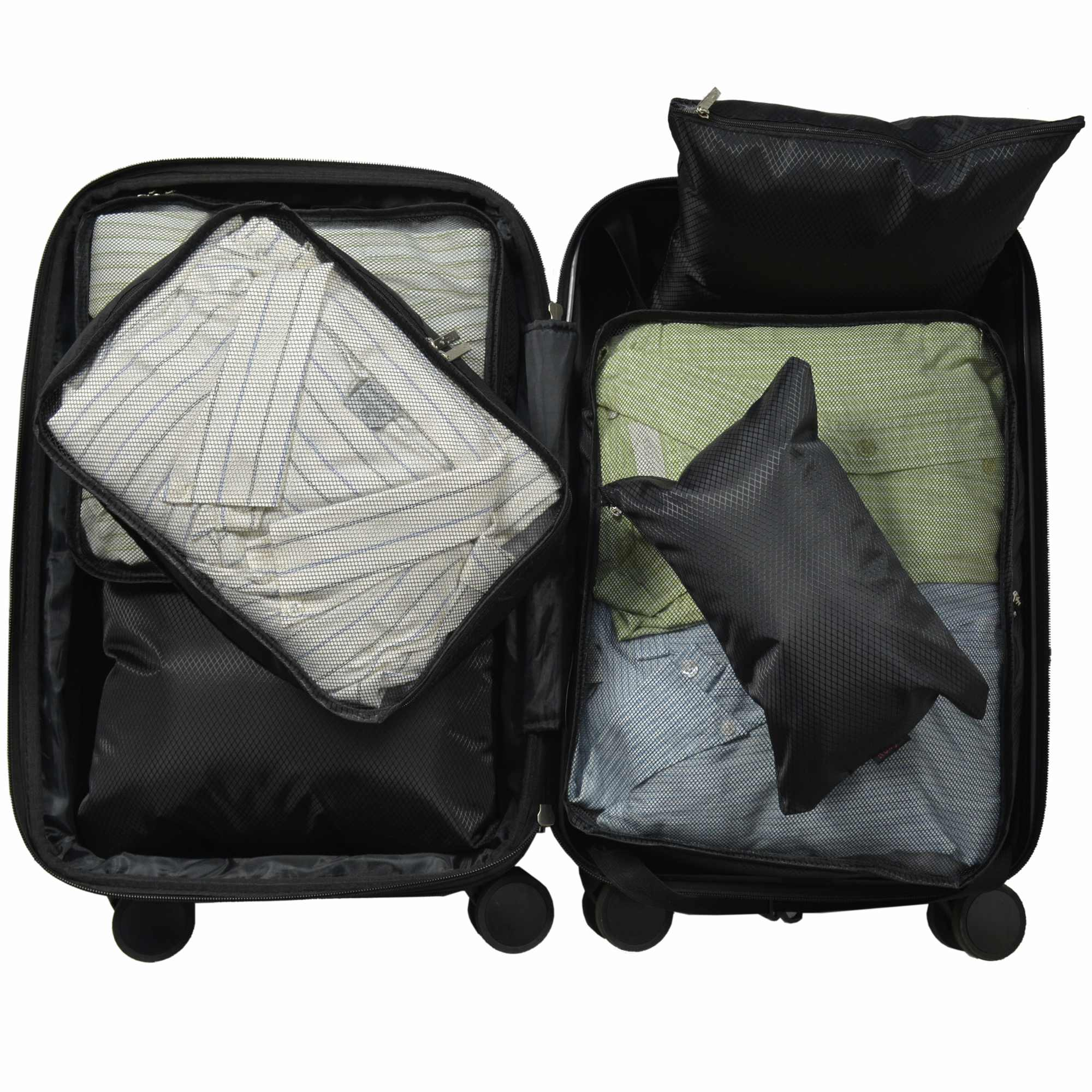 Organizador de Mala Viagem Necessaire Kit 6 Peças Preto CBRN12756
