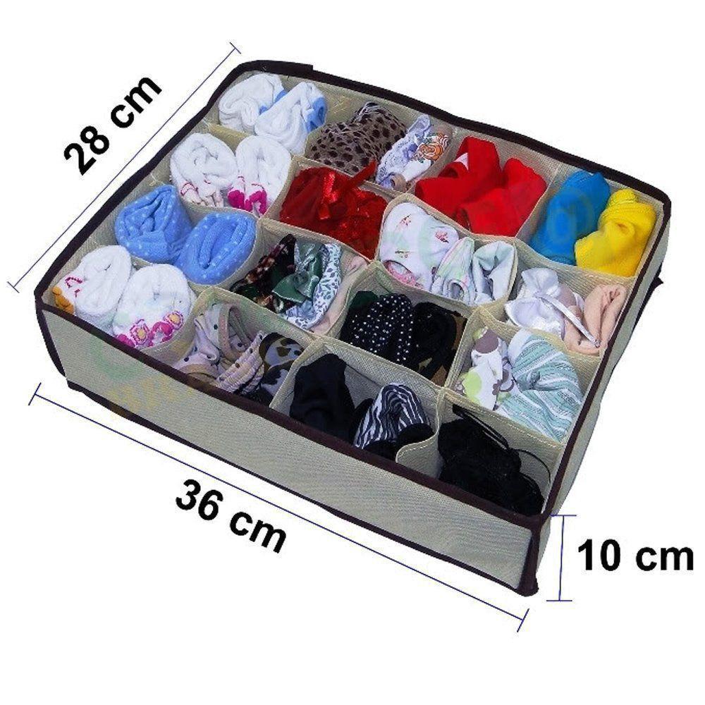 Organizador de gaveta cuecas meias calcinhas KIT 5 peças CBRN09213