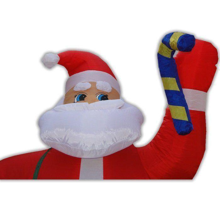 Papai Noel 2,40m Saco de Presente PW107 Inflável Iluminado para Natal
