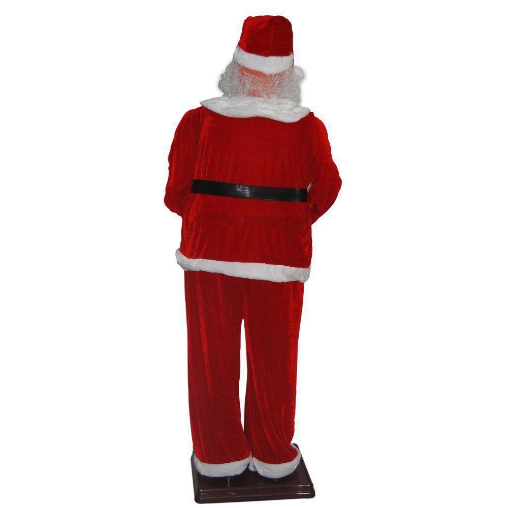 Papai Noel Animado Dança Toca Sax 1,80m Bi-volt 1498 Vermelho