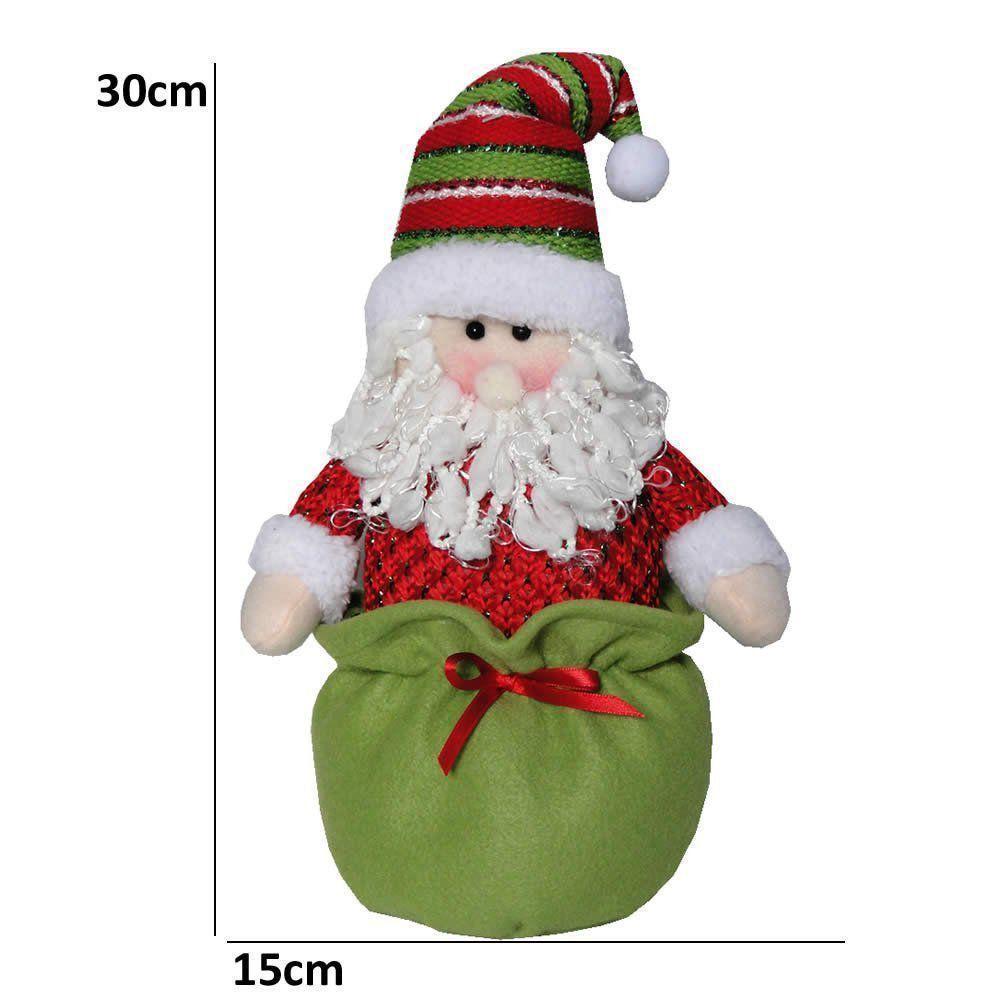 Papai Noel em Pelúcia com 30cm de Altura CBRN0241 CD0019