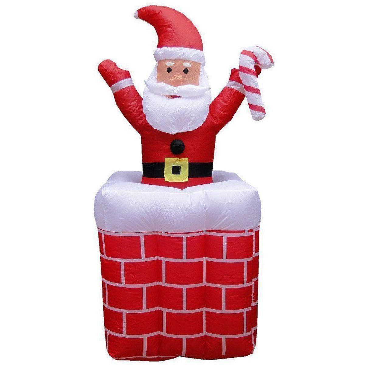 Papai Noel na Chaminé Inflável Sobe Desce 1,80m - 1584
