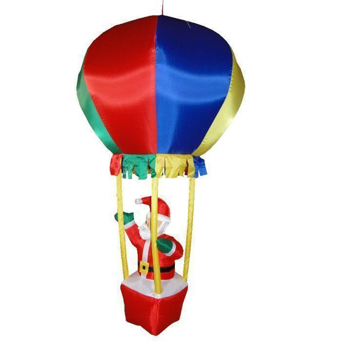 Papai Noel no Balão PW109 Inflável Natal 1,70m Iluminado