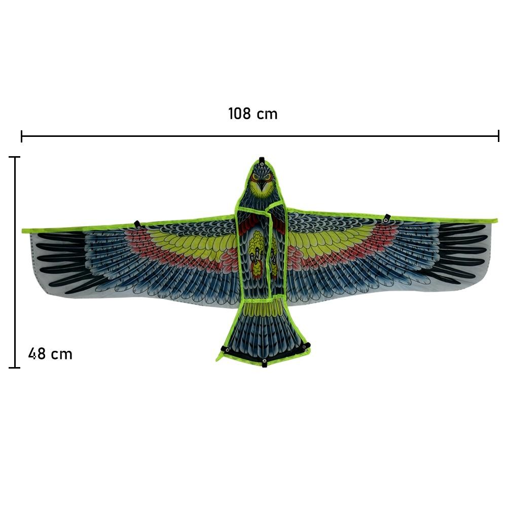 Pipa em Poliéster 3D com Linha Nylon Águia Modelo 4 CBRN14774