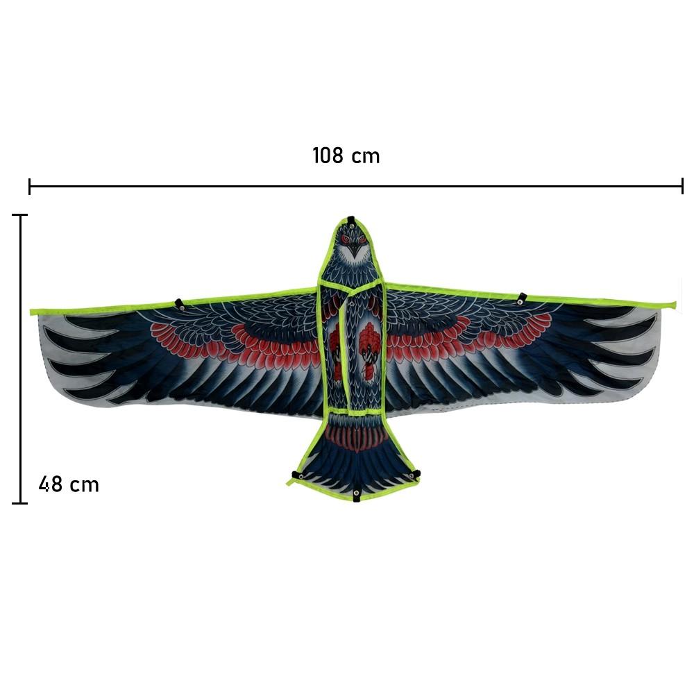 Pipa em Poliéster 3D com Linha Nylon Águia Modelo 5 CBRN14781