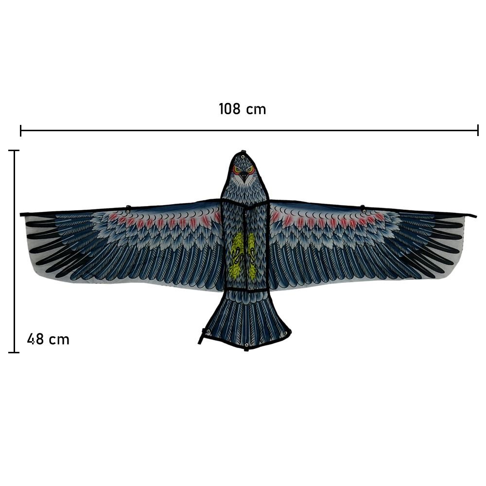 Pipa em Poliéster 3D com Linha Nylon Águia Modelo 6 CBRN14798