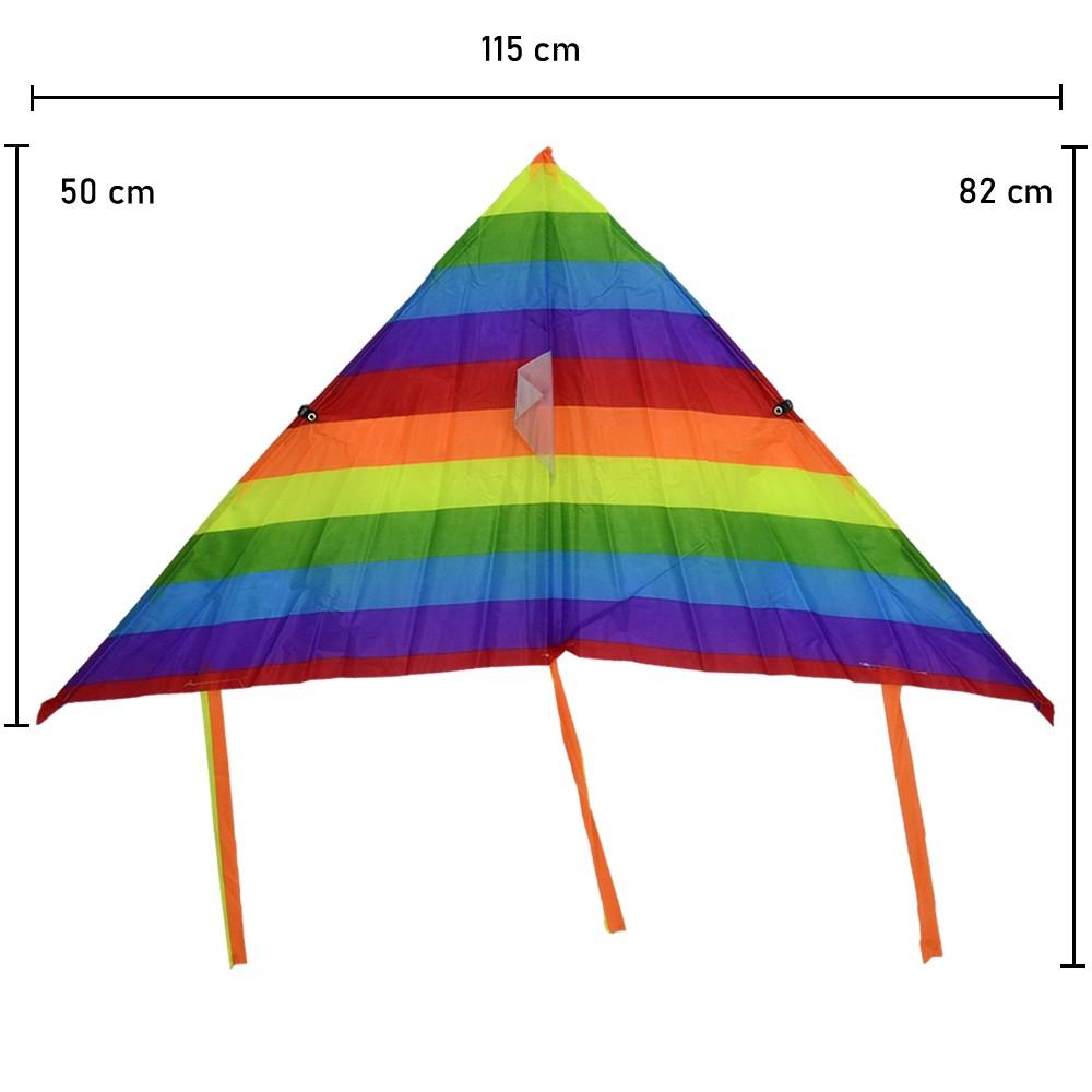 Pipa em Poliéster 3D com Linha Nylon Arco-íris CBRN14705