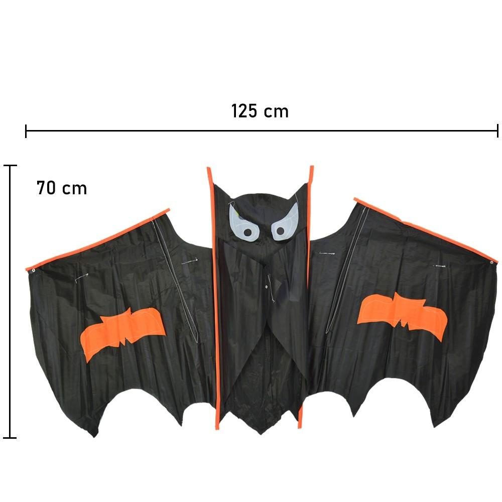 Pipa em Poliéster 3D com Linha Nylon Morcego CBRN14736