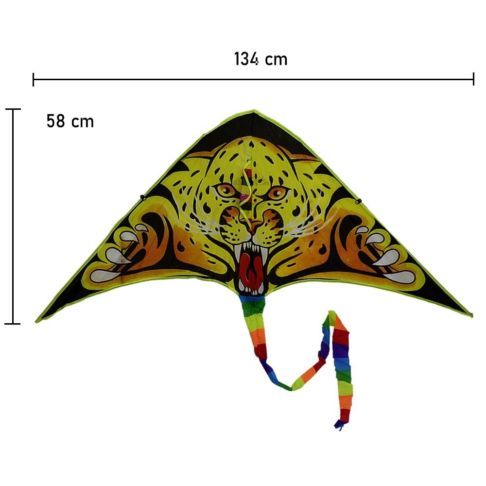 Pipa em Poliéster 3D com Linha Nylon Onça CBRN14729