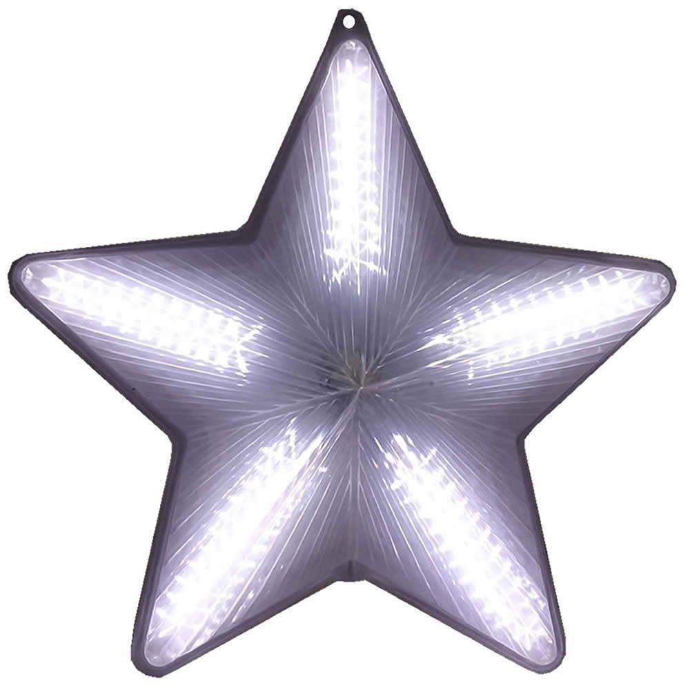 Pisca Pisca Estrela de Natal 20 Leds Branco 50cm Bi-volt CBRN0647